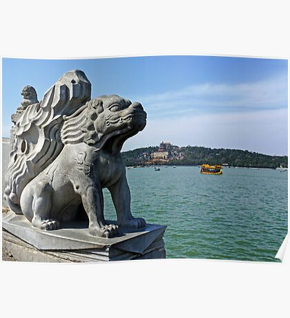 Summer Palace Statue Poster