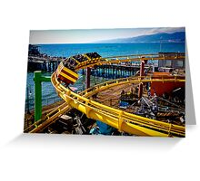 ROLLER COASTER Water View Greeting Card