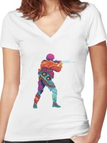 Hyper Beast CSGO Women's Fitted V-Neck T-Shirt