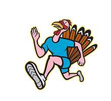 Turkey Run Runner Side Cartoon Isolated by patrimonio