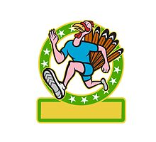 Turkey Run Runner Side Cartoon by patrimonio