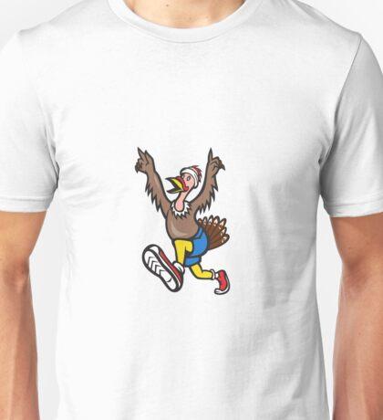 Turkey Run Runner Cartoon Isolated Unisex T-Shirt