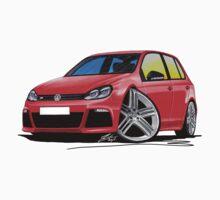 VW Golf (Mk6) R (5dr) Red Kids Tee