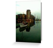 Victoria Dock London Sail Boat Greeting Card