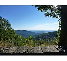 View from Skyline Drive across the Shenandoah Valley Photographic Print