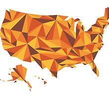 Abstract America Desert Rock by Travla Creative
