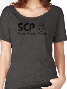 Secure. Contain. Protect. (Your torso!) Women's Relaxed Fit T-Shirt
