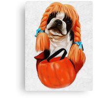 Pumpkin Boston Canvas Print