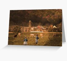 BABYS AND GOAT FARM Greeting Card