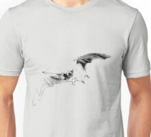 Vampire Bat Halloween Digital Engraving Image. Unisex T-Shirt
