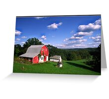 INDIANA  FARM ON HILL Greeting Card
