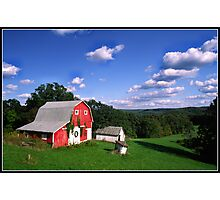 INDIANA  FARM ON HILL Photographic Print