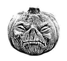 Jackolantern Halloween Digital Engraving Image by digitaleclectic