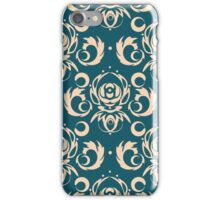 Vector dark blue background for textile design. iPhone Case/Skin