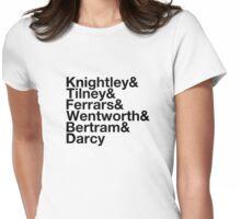 Men of Jane Austen Helvetica Womens Fitted T-Shirt