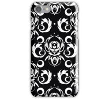 Vector black background for textile design. iPhone Case/Skin