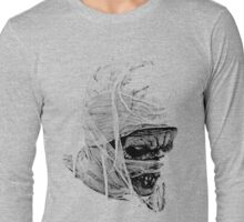 Scary Halloween Mummy. Digital Horror and Gothic Engraving Image Long Sleeve T-Shirt