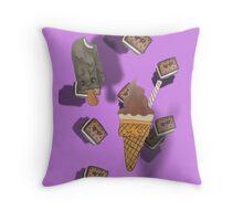 ice cream get your ice cream! Throw Pillow