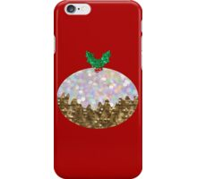sequin christmas pudding iPhone Case/Skin