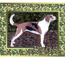 American Foxhound Dog Christmas by Oldetimemercan