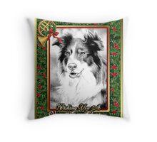 Australian Shepherd Christmas Throw Pillow