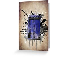 Time and Space Greeting Card