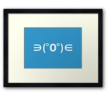 Fugu Emoticon Japanese Kaomoji Framed Print