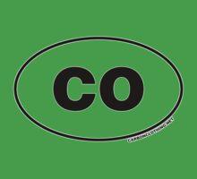 Colorado CO Euro Oval Sticker Kids Clothes
