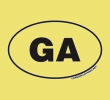 Georgia GA Euro Oval Sticker Kids Clothes