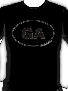 Georgia GA Euro Oval Sticker T-Shirt