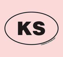 Kansas KS Euro Oval Sticker One Piece - Short Sleeve
