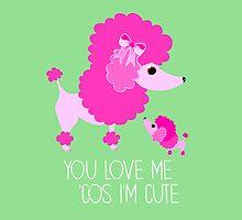 You Love Me . . . (Poodle) by BonniePortraits
