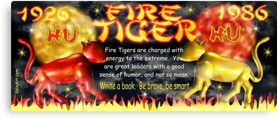 1986 2046 Chinese zodiac born as Fire Tiger by Valxart.com by Valxart