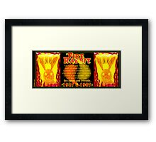 1927 1987 Chinese zodiac born Fire rabbit by Valxart.com  Framed Print