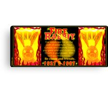 1927 1987 Chinese zodiac born Fire rabbit by Valxart.com  Canvas Print
