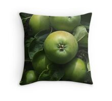Green Apples Throw Pillow