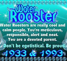 1933 1993  1933 1993 Chinese zodiac born in year of Water Rooster by valxart.com  by Valxart