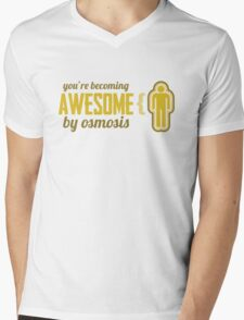 Your Becoming Awesome by Osmosis Mens V-Neck T-Shirt