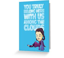 Among the Clouds (Star Wars)  Greeting Card