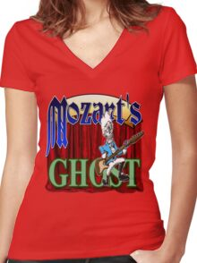 Mozart's Ghost Women's Fitted V-Neck T-Shirt