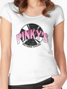 Pinkys Record Store Women's Fitted Scoop T-Shirt