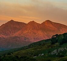 Close up of the Snowdon Horseshoe at sunrise by Nick Jenkins