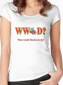 What Would Macgyver Do Women's Fitted Scoop T-Shirt