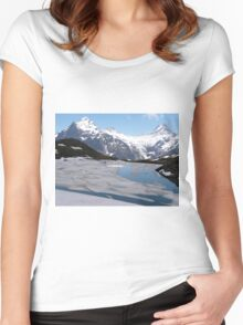 Bachalpesee with Fiescherhornen in the background, Switzerland Women's Fitted Scoop T-Shirt