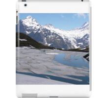 Bachalpesee with Fiescherhornen in the background, Switzerland iPad Case/Skin