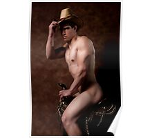 41955 Nude Male Cowboy Poster