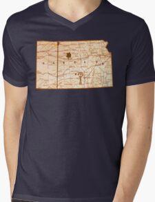 Rolling Kansas Mens V-Neck T-Shirt