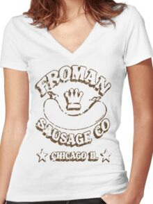 Froman Sausage Company Women's Fitted V-Neck T-Shirt