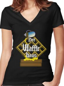Der Waffle Haus Women's Fitted V-Neck T-Shirt
