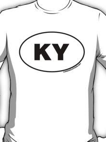 Kentucky KY Euro Oval Sticker T-Shirt